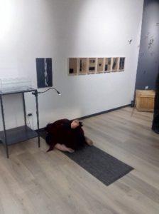 La scena finale della performance di Margherita Peluso