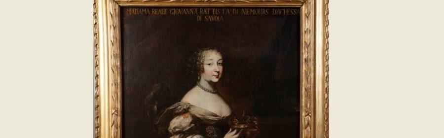 Charles Dauphin (Metz 1625/28 ca – Torino 1678), Ritratto di Maria Giovanna Battista di Savoia-Nemours, 1675 – 1678 ca, olio su tela. Racconigi, Reale Castello