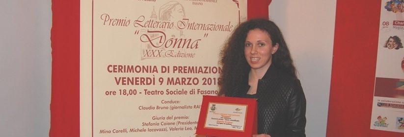 LA GIOVANE ALESSIA GRAFNER ALLA FINALE DEL PREMIO LETTERARIO