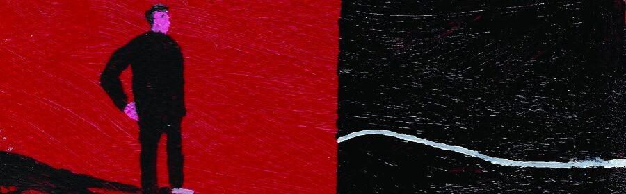 Enrico Pantani, Boredom box, 2020, olio e smalti su box riciclato in cartone, cm 20x13