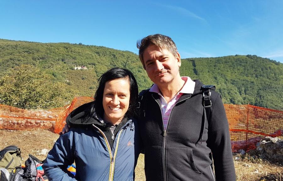 L'archeologa Alessia Frisetti e l'assessore Carmine Tomeo