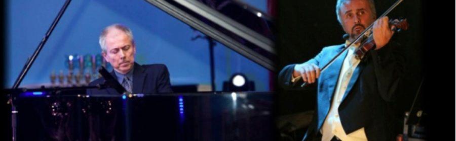Salotto in piazza XX settembre Gen Llukacial violino e Stefano Malferrari al piano