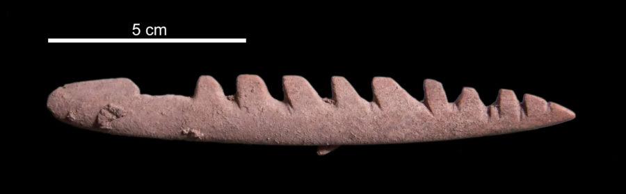 Arpione mesolitico dal sito archeologico