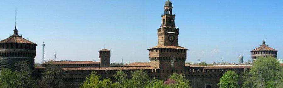 Milano sforzesco-fronte-del-castello